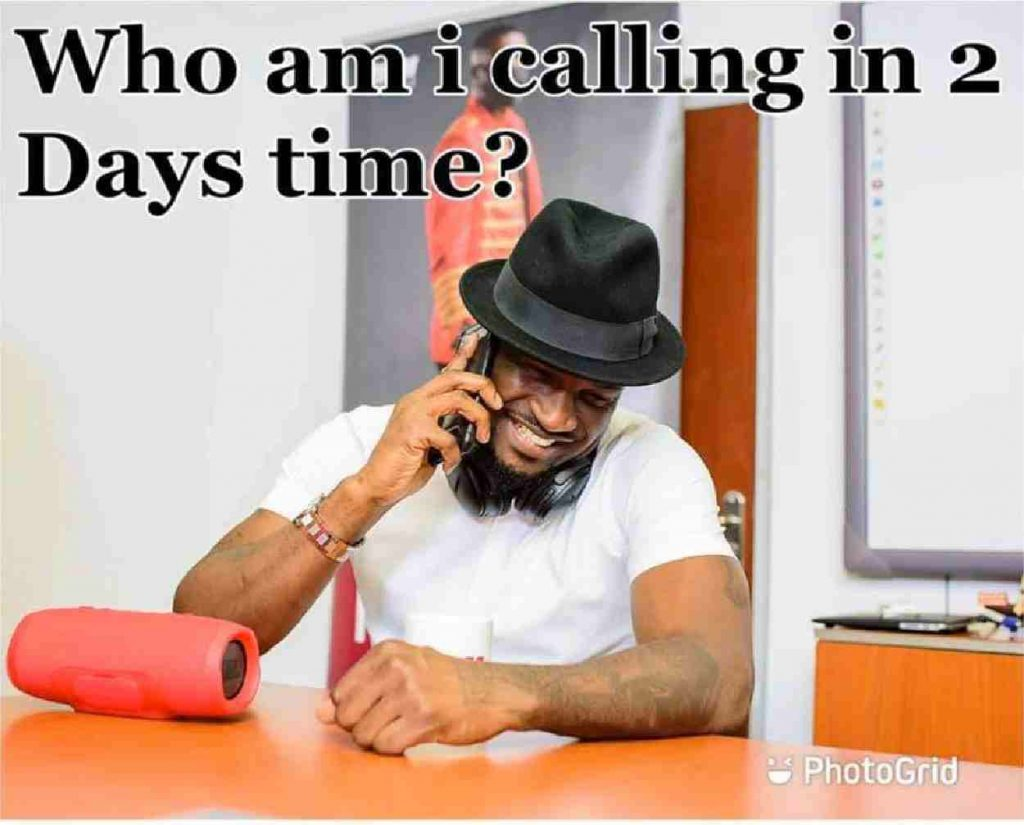 Peter Okoye on a phone call, Mr P Fires Back At a Trolling Facebook Fan