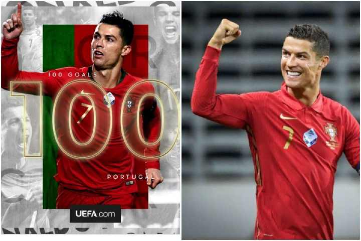 Cristiano Ronaldo Scores 100 international goals